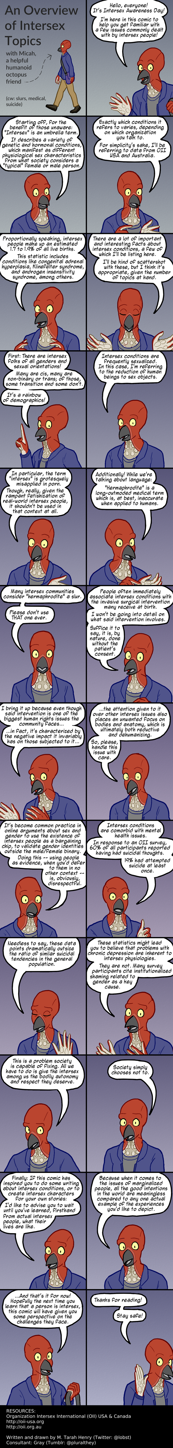 Comic: An Overview of Intersex Topics