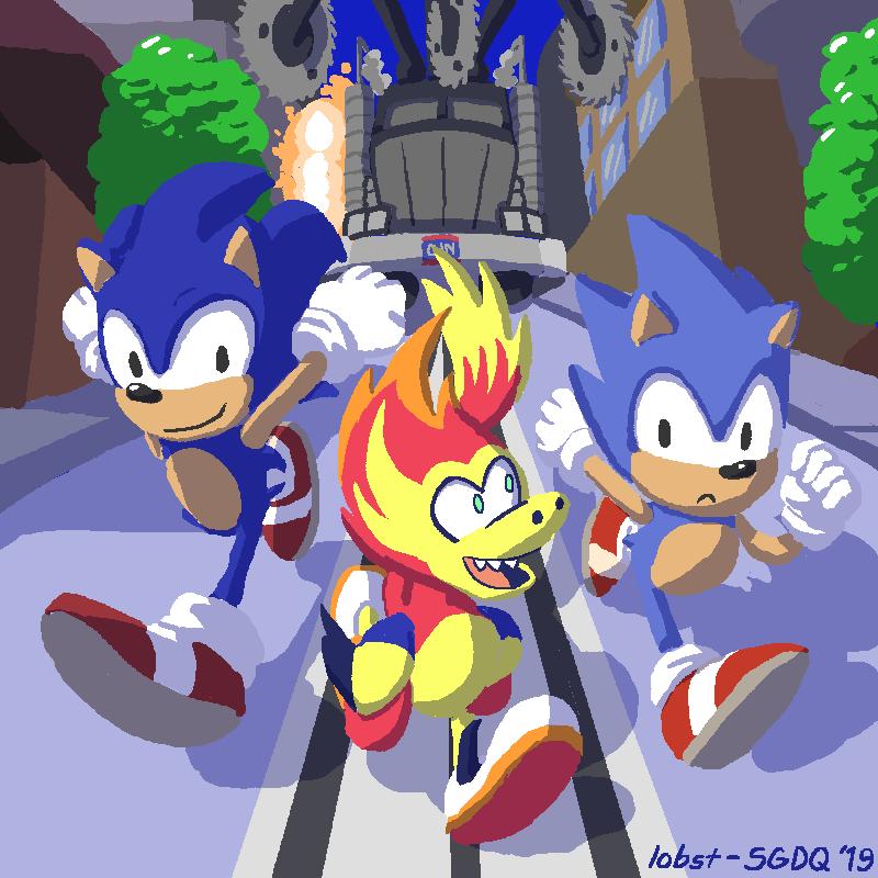SGDQ 2019 Fanart: Sonic Generations